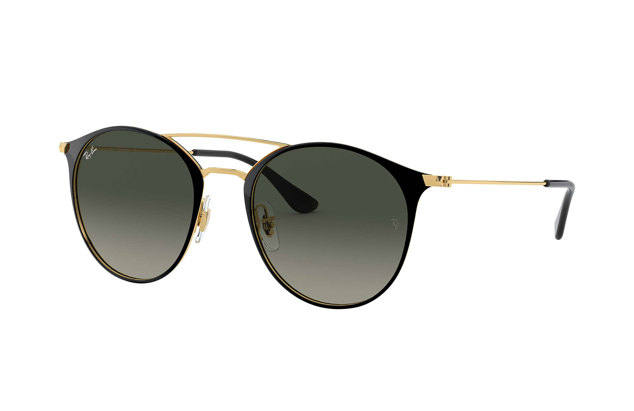ray ban gold and black