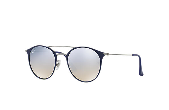 Ray-Ban Sunglasses RB3546 Blue with Silver Gradient Flash lens