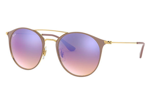 Ray-Ban 0RB3546-RB3546 Light Brown,Gold; Gold,Light Brown SUN