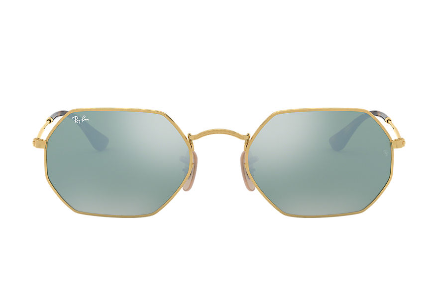 Ray-Ban  occhiali da sole RB3556N UNISEX 005 octagonal flash lenses oro 8053672672749