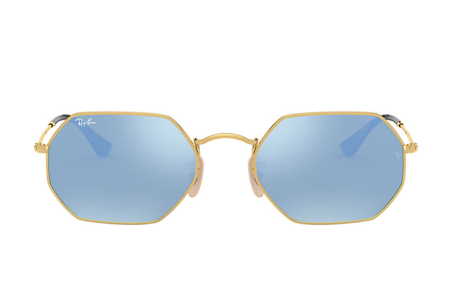 Ray-Ban  occhiali da sole RB3556N UNISEX 004 octagonal flash lenses oro 8053672672756