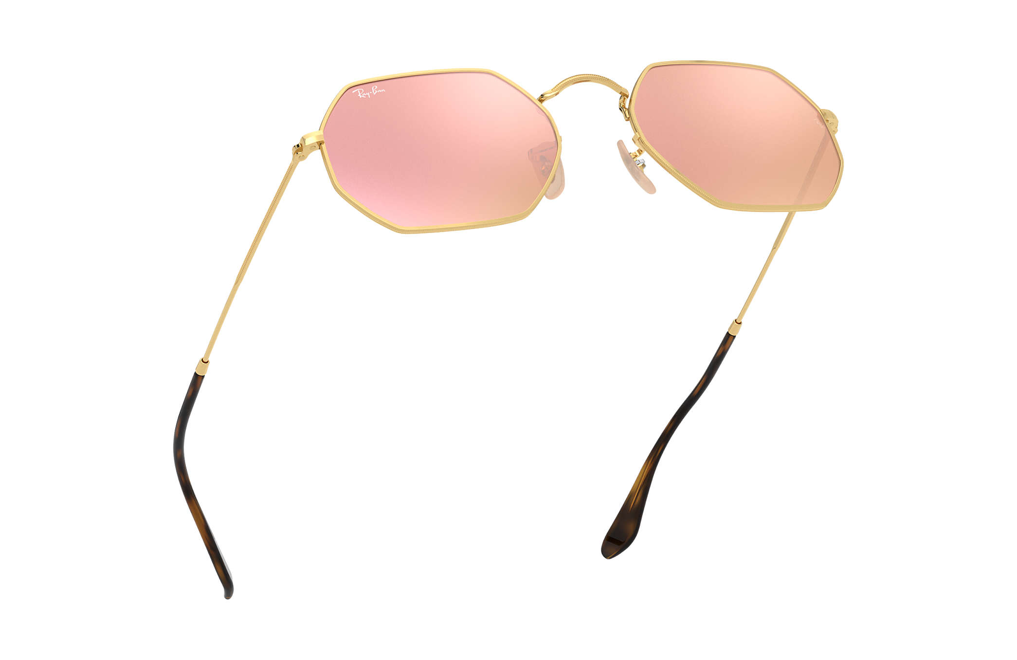 a1b115fda118 Ray-Ban Octagonal Flash Lenses RB3556N Gold - Metal - Copper Lenses ...