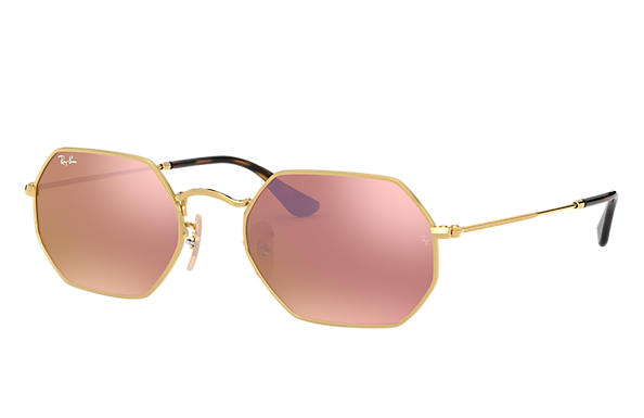 Ray-Ban 0RB3556N-OCTAGONAL FLASH LENSES Or SUN