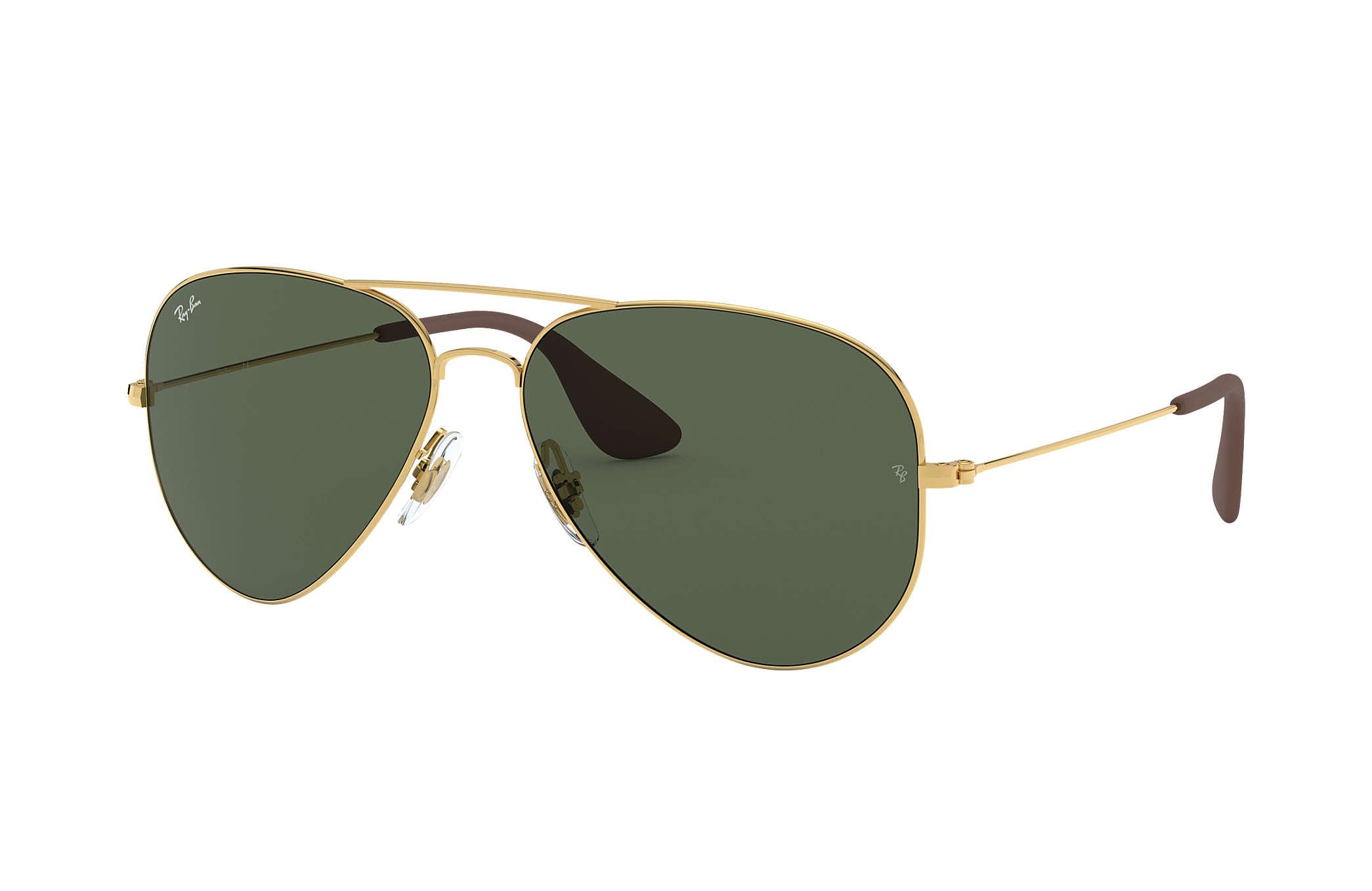 7d9d4282a8 Ray-Ban RB3558 Gold - Metal - Green Lenses - 0RB3558001 7158