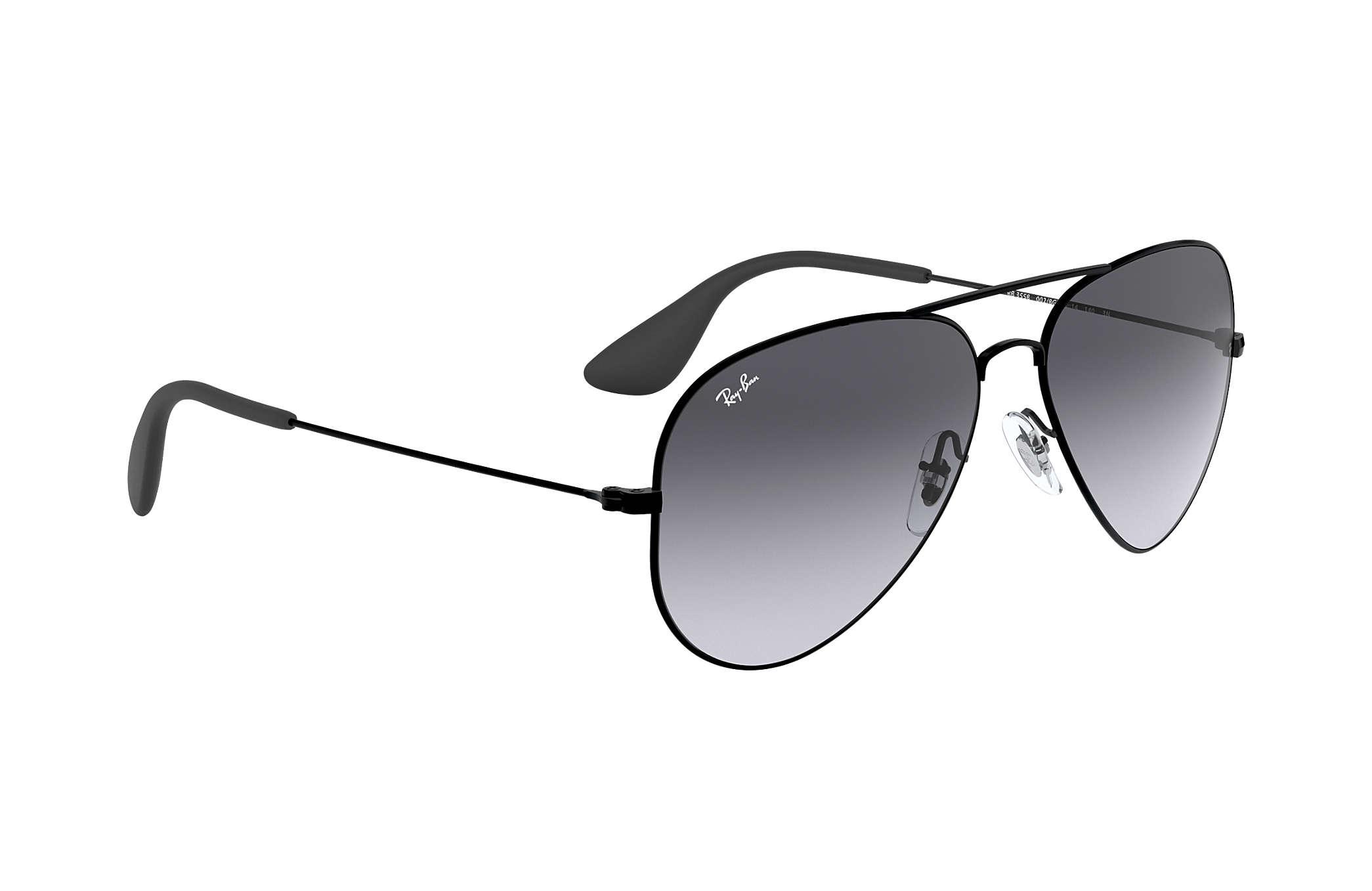 6dc0edc72c Ray-Ban RB3558 Black - Metal - Grey Lenses - 0RB3558002 8G58