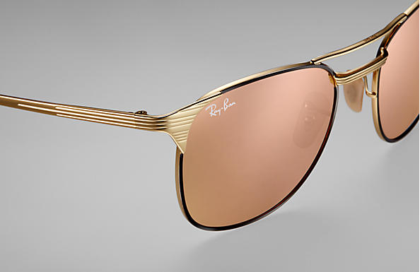 ray ban signet black and gold