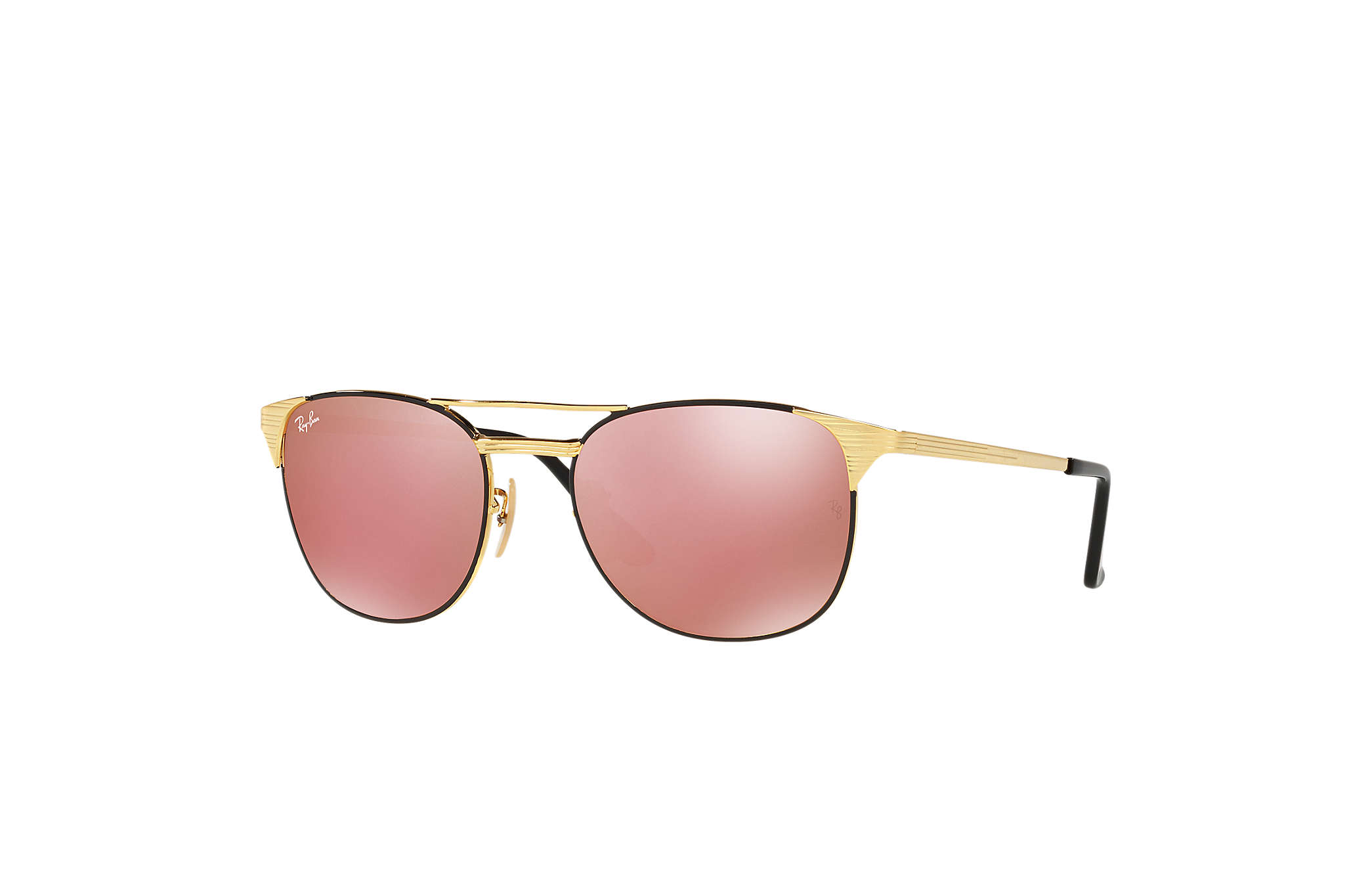 25454b53e8 Ray-Ban Signet RB3429M Black - Metal - Copper Lenses ...