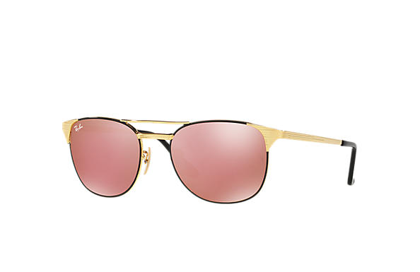 Ray-Ban Sunglasses SIGNET Black with Copper Flash lens