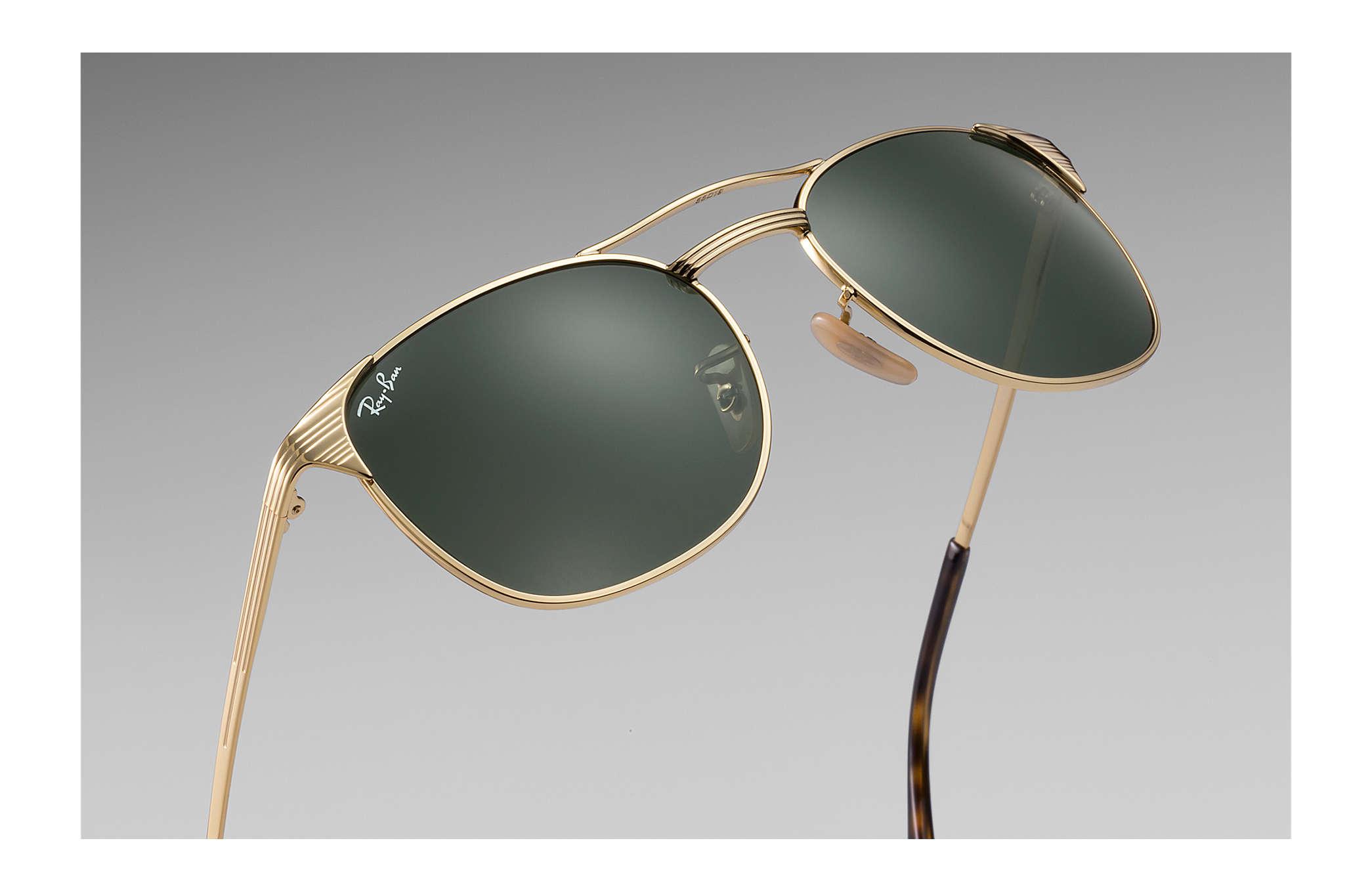 8cd4e41bf4b08f Ray-Ban Signet RB3429M Gold - Metal - Green Lenses - 0RB3429M00155 ...