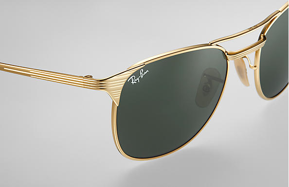 2858bfbcfb Ray-Ban Signet RB3429M Oro - Metal - Lentes Verde - 0RB3429M00155 ...