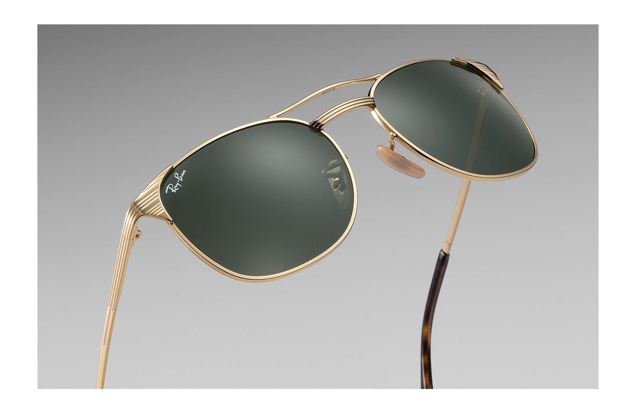 99f32a9779 Ray-Ban Signet RB3429M Gold - Metal - Green Lenses - 0RB3429M00158 ...