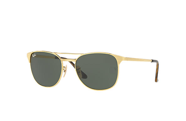 3ccd94035ca95 Ray-Ban Signet RB3429M Ouro - Metal - Lentes Verde - 0RB3429M00158 ...