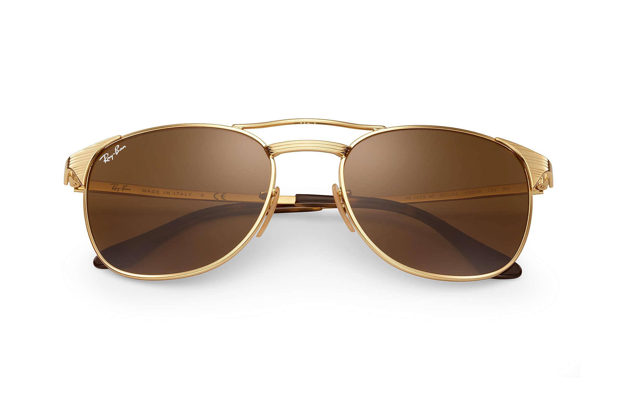 ea7ea0a0dc Ray-Ban Signet RB3429M Gold - Metal - Brown Lenses - 0RB3429M001 ...