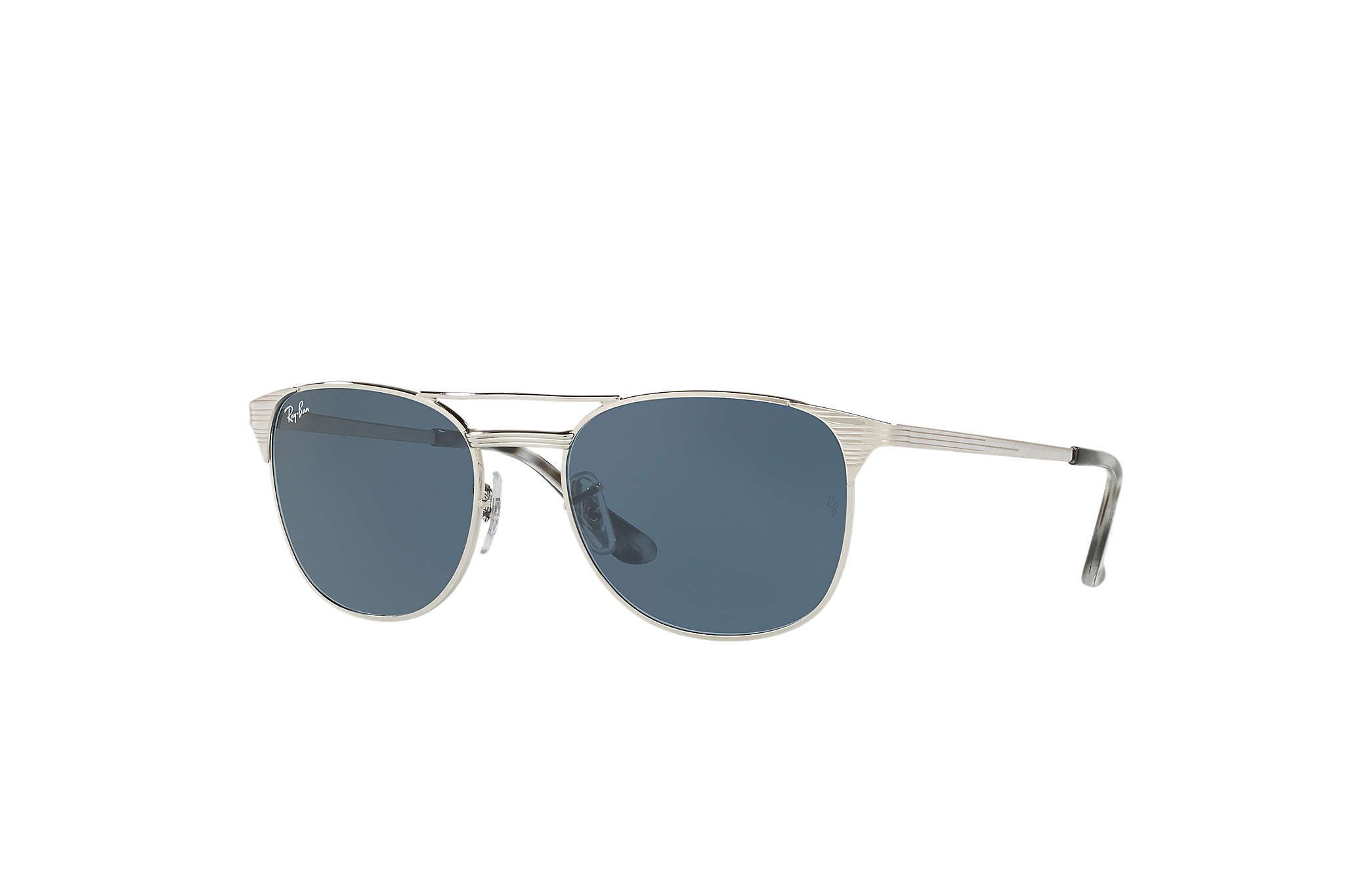 26151fed860 Ray-Ban Signet RB3429M Silver - Metal - Blue Gray Lenses ...