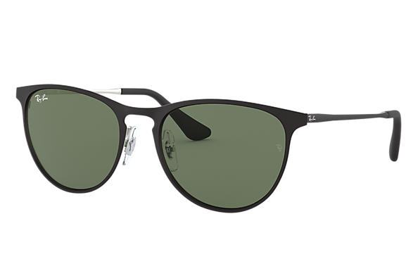 Ray-Ban 0RJ9538S-ERIKA METAL JUNIOR Silver; Black SUN