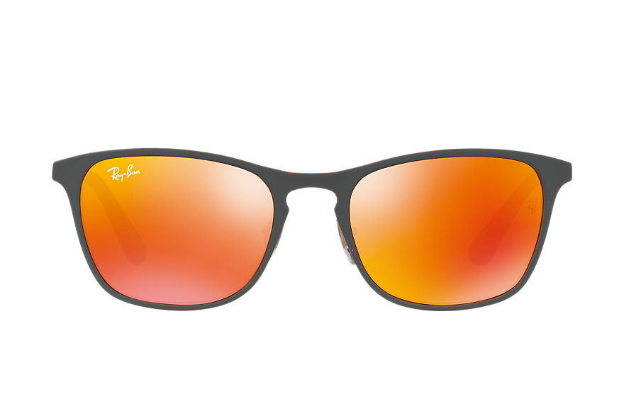 Ray-Ban RJ9539S Grey with Red Mirror lens