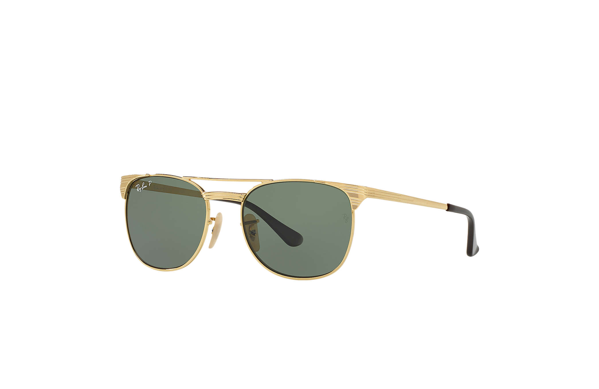 4cb752750a7 Ray-Ban Signet Junior RB9540S Gold - Metal - Green Polarized Lenses ...