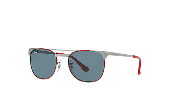 Ray-Ban 0RJ9540S-SIGNET JUNIOR Gunmetal,Red; Gunmetal SUN