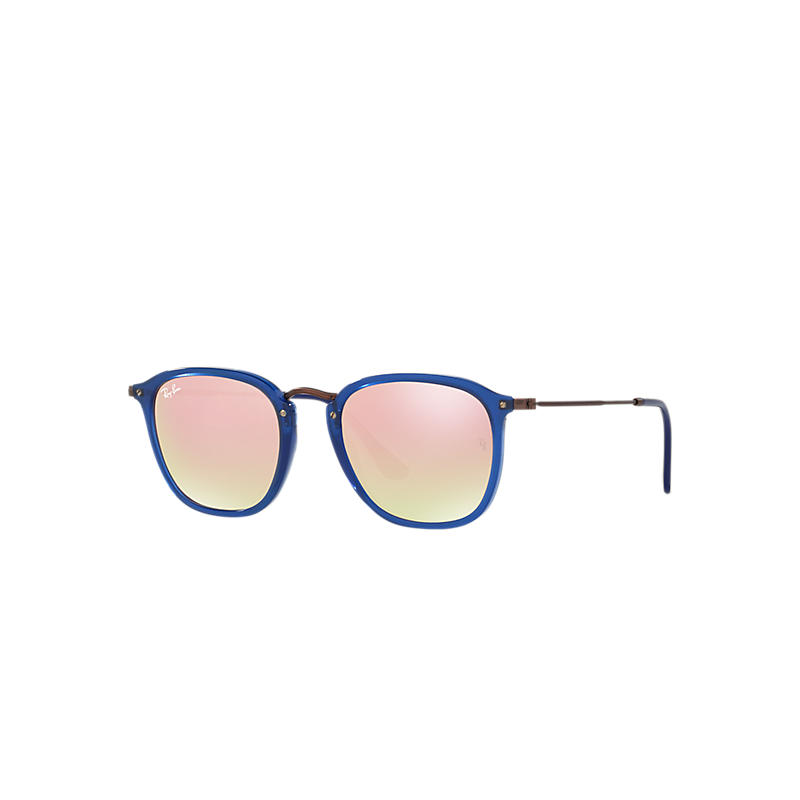 Ray-Ban Brown Sunglasses, Pink Lenses - Rb2448n 8053672677294