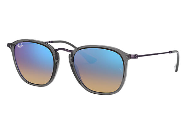 819b8fc70d Ray-Ban RB2448N Grey - Acetate - Blue Lenses - 0RB2448N62554O51 ...