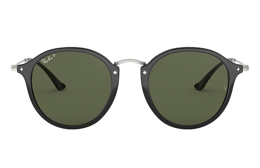 Ray-Ban ROUND FLECK Black with Green Classic G-15 lens