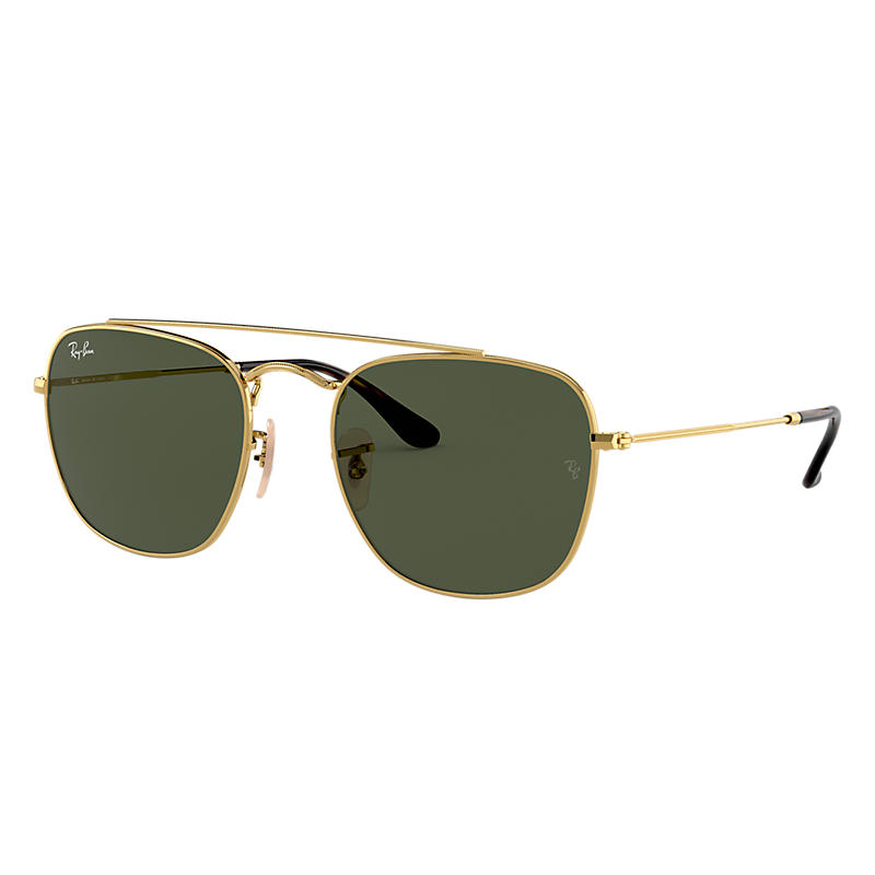 Ray Ban Rb3557 Unisex Sunglasses Verres: Vert, Monture: Or - RB3557 001 51-20