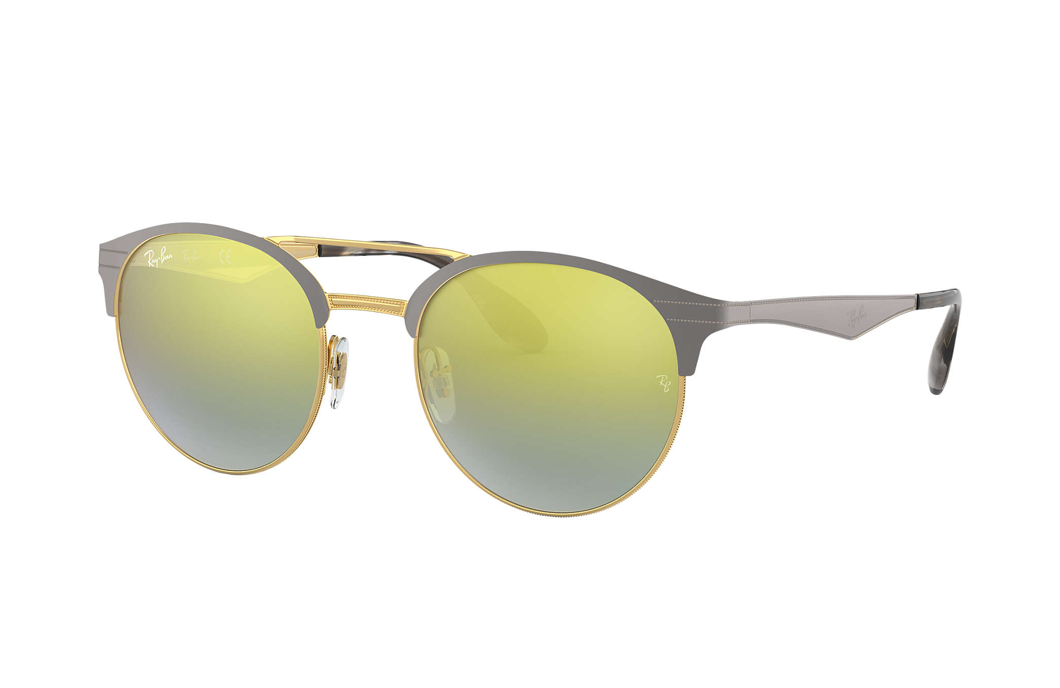 bcf8be097b5 Ray-Ban RB3545 Grey - Metal - Green Lenses - 0RB35459007A754