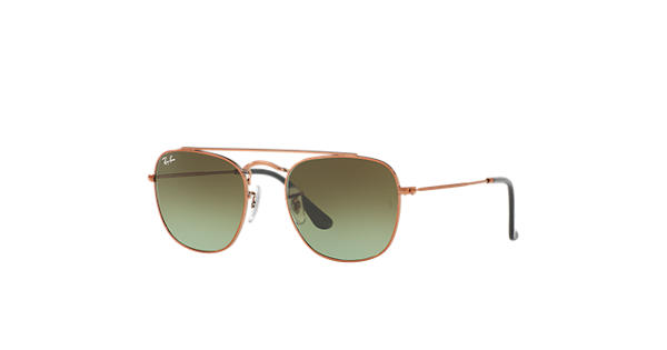 Ray Ban Rb3557 Bronze Copper Metal Green Lenses