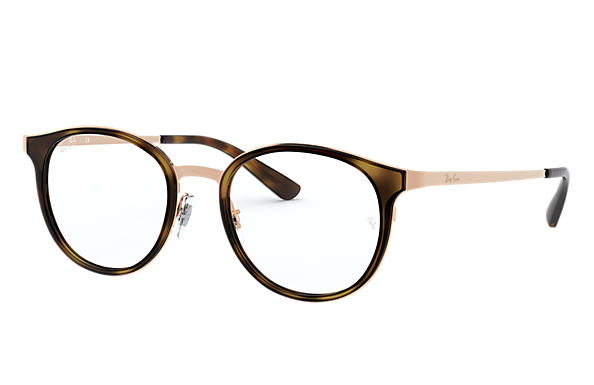Ray-Ban 0RX6372M-RB6372M Tortoise; Lichtbruin OPTICAL