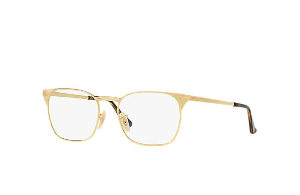 ray ban prescription glasses gold frame