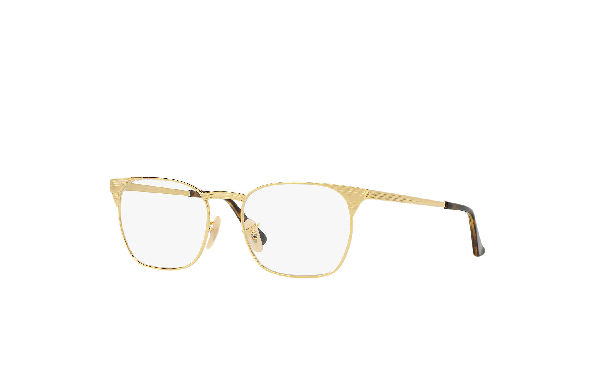 ec8fa82597c5f Ray-Ban eyeglasses Signet Optics RB6386 Gold - Metal - 0RX6386250053 ...