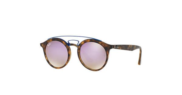 RAY BAN RAY-BAN Sonnenbrille »New Gatsby I RB4256«, braun, 6266B0 - braun/lila