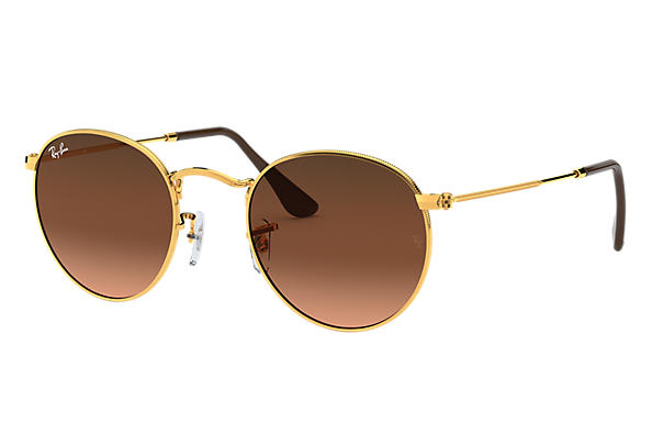 e69790ae0 Ray-Ban Round Metal RB3447 Gold - Metal - Green Lenses ...