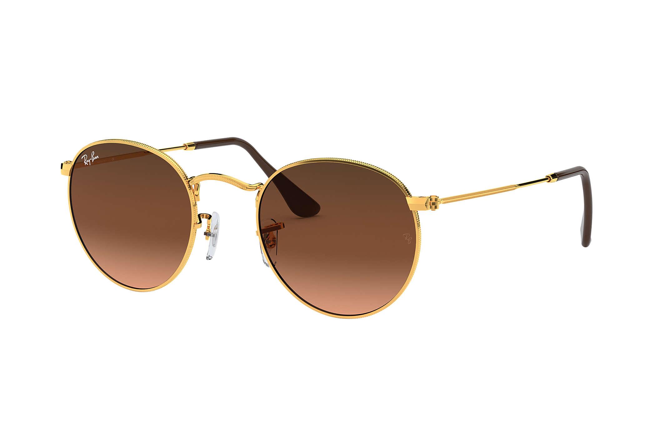 3ba3dc72bea85c Ray-Ban Round Metal RB3447 Bronze-Copper - Metal - Pink Brown Lenses ...
