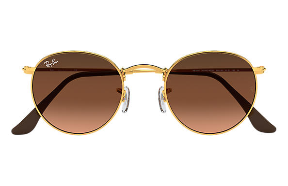 27210c27a5277 Ray-Ban Round Metal RB3447 Bronze-Copper - Metal - Pink Brown Lenses ...
