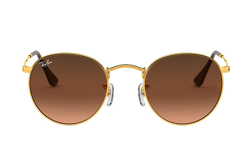 Ray-Ban  sunglasses RB3447 MALE 001 round metal polished bronze copper 8053672684339