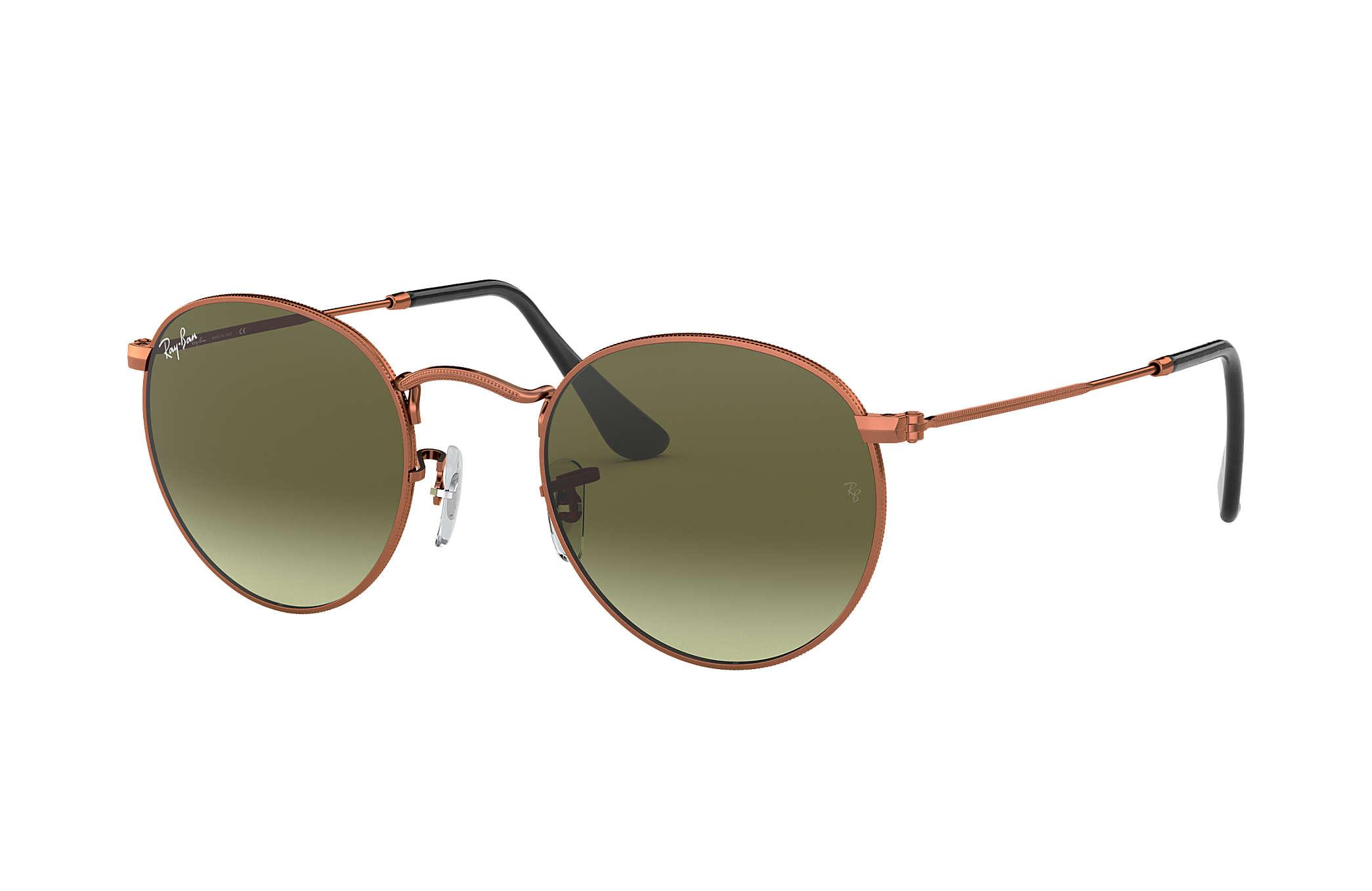 e502630a6da7 Ray-Ban Round Metal RB3447 Bronze-Copper - Metal - Green Lenses ...