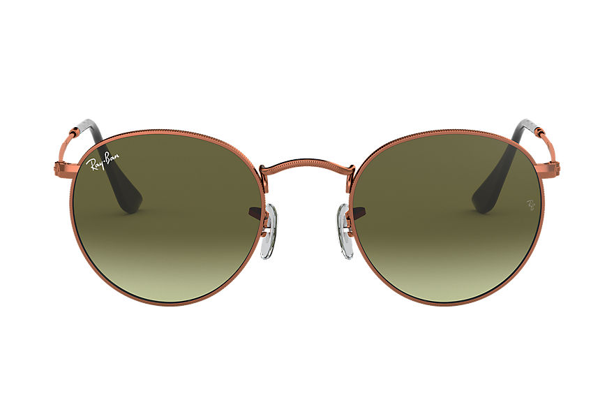 Ray-Ban  sunglasses RB3447 MALE 003 round metal 青銅 紅棕色 8053672684360