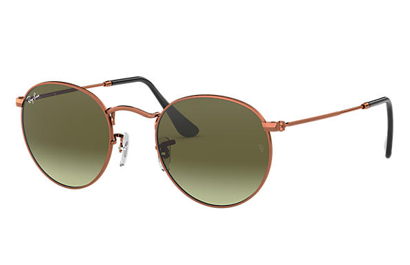 Ray-Ban 0RB3447-ROUND METAL Bronze-Copper SUN