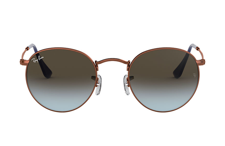 Ray-Ban  sunglasses RB3447 MALE 002 round metal polished bronze copper 8053672684391