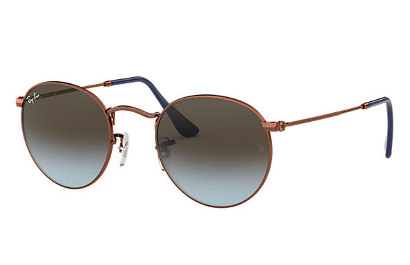 Ray-Ban 0RB3447-ROUND METAL Bronze-cuivre SUN