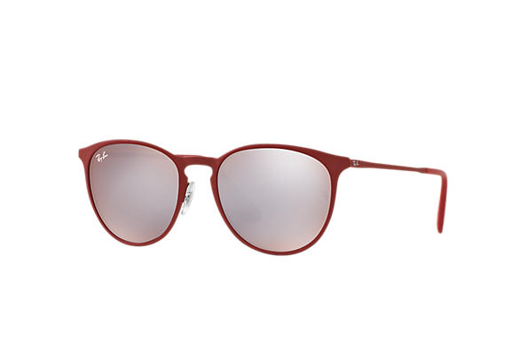 0a9adb8e3ed86 Ray-Ban Erika Metal RB3539 Bordeaux - Metal - Pink Silver Lenses ...