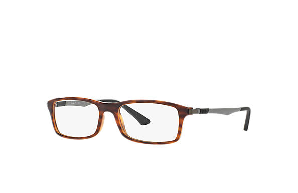 Ray-Ban 0RX7017-RB7017 Habana; Gunmetal OPTICAL