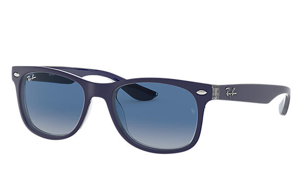 Ray-Ban 0RJ9052S-NEW WAYFARER JUNIOR Bleu,Transparent SUN