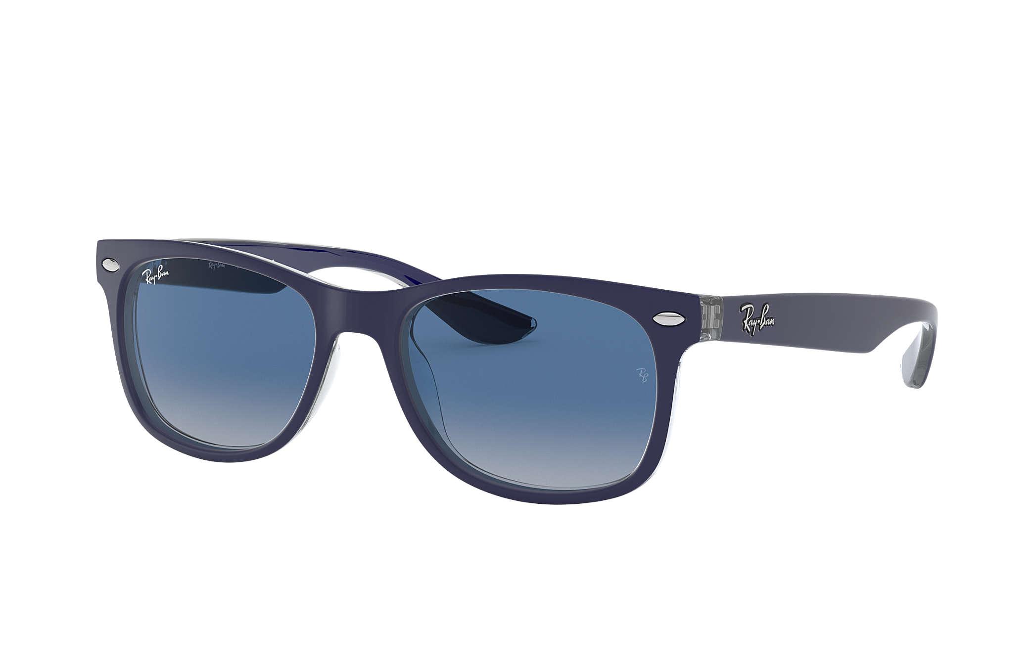 6a2cf32adfa Ray-Ban New Wayfarer Junior RB9052S Blue - Injected - Blue Lenses ...