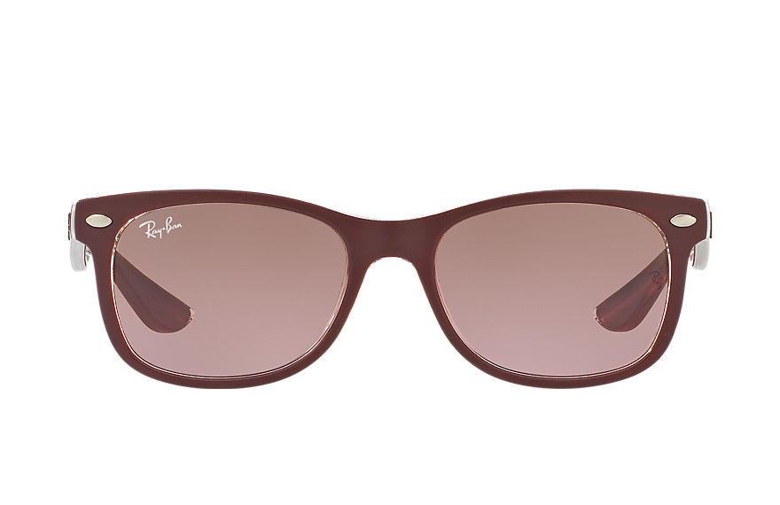 Ray-Ban  lunettes de soleil RJ9052S CHILD 013 new wayfarer junior bordeaux 8053672687361