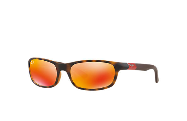 Ray-Ban Sunglasses RJ9056S Tortoise with Red Mirror lens