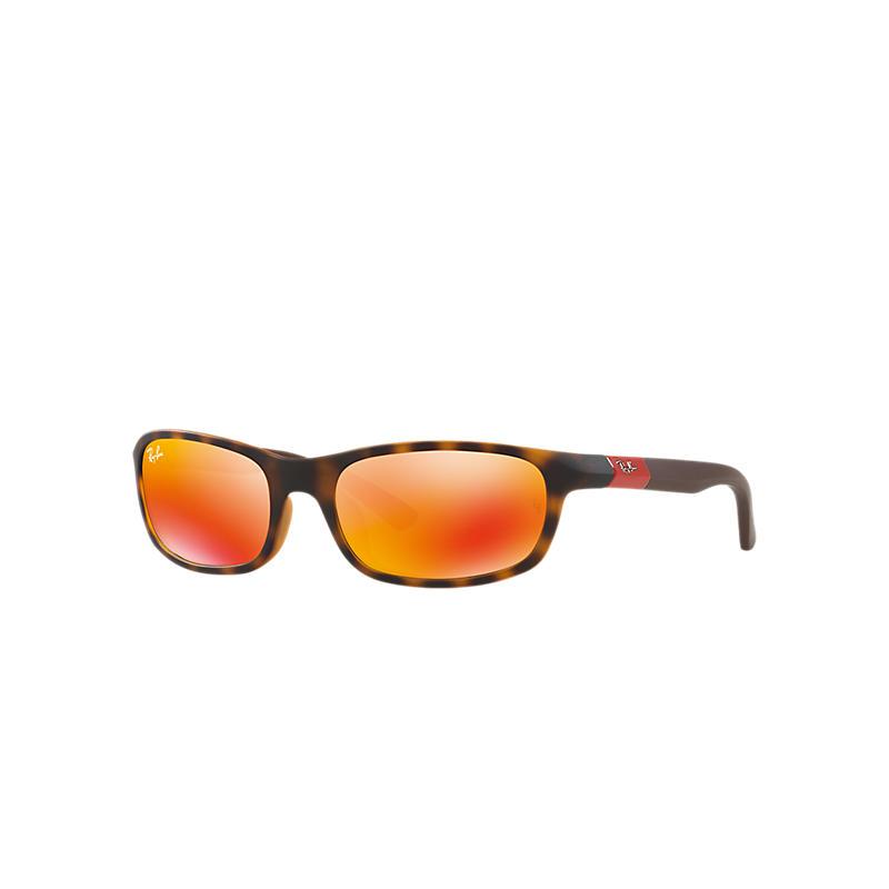 Ray-Ban Junior Brown Sunglasses, Red Lenses - Rj9056s 8053672687477