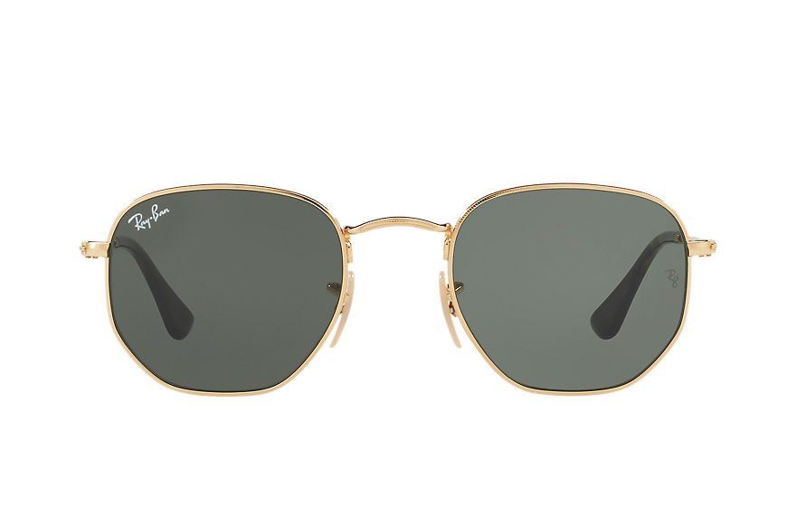 Ray-Ban  sunglasses RB3548NF UNISEX 002 六边平板镜片 金 8053672688689