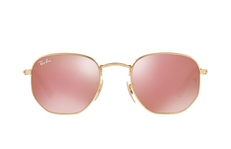 Ray-Ban  sunglasses RB3548NF UNISEX 004 六边平板镜片 金 8053672688702